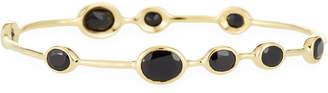 Ippolita 18K Gold Rock Candy 9-Stone Bangle Bracelet in Onyx