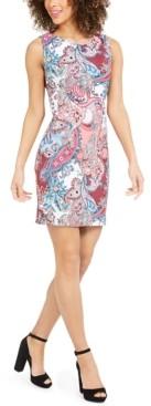 Connected Petite Paisley-Print Sheath Dress