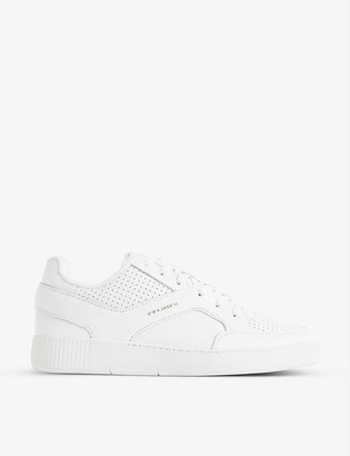 Reiss Grendon low-top leather trainers
