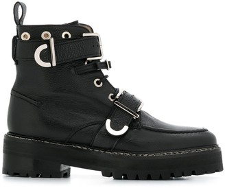 ALEXACHUNG Buckle-Embellished Ankle Boots