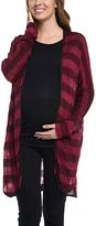 Red Stripe Maternity Cardigan