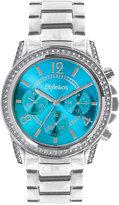 Style&Co. Women's Silver-Tone Bracelet Watch 39mm 10022694
