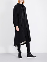 Isabel Benenato Longline cotton and wool-blend parka coat