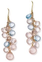Bloomingdale's Rose Quartz and Blue Topaz Briolette Drop Earrings in 14K Yellow Gold
