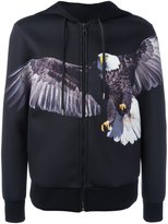 Neil Barrett eagle print hoodie