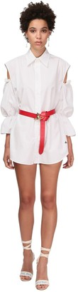 Vivienne Westwood Cotton Poplin Mini Dress W/cut Out