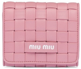 Miu Miu Woven Nappa Leather Wallet