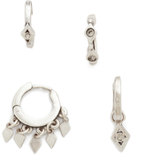 Luv Aj The Evil Eye Hoop Huggie Earring Set