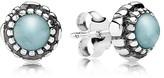 Pandora Earrings - Sterling Silver & Aquamarine Birthday Blooms March Stud