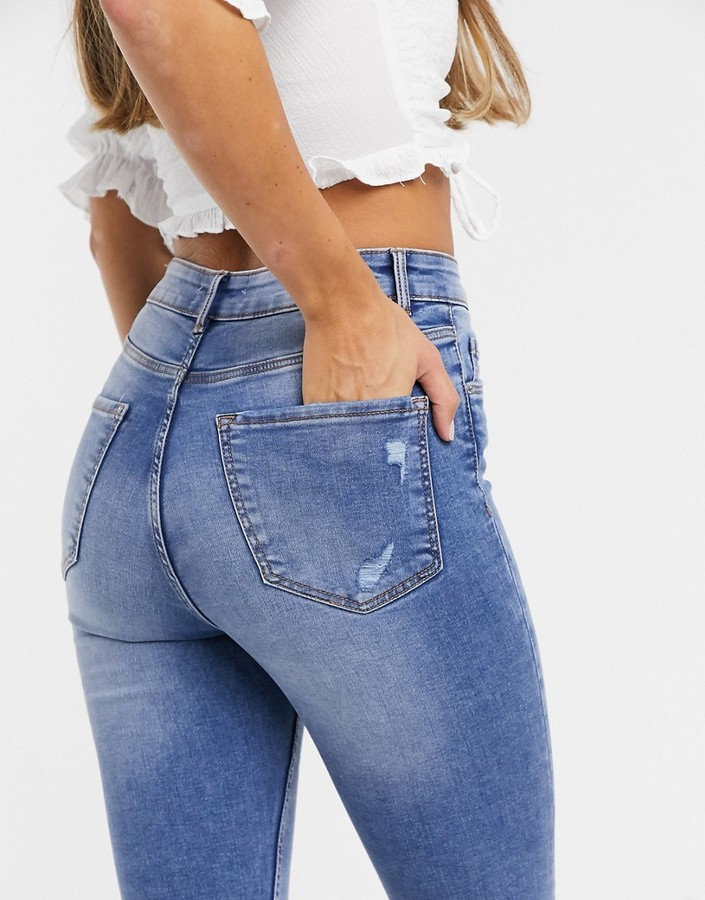 Thumbnail for your product : Pimkie super skinny high waisted jean in dark blue