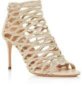 Casadei Women's Cleopatra Swarovski Crystal Embellished High Heel Cage Sandals