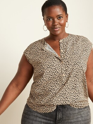 Old Navy Banded-Collar No-Peek Plus-Size Sleeveless Stretch Tunic