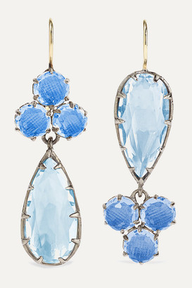 Larkspur & Hawk Sadie Rhodium-dipped Quartz Earrings - Silver