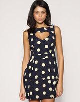 Polka Dot Belted Tea Dress