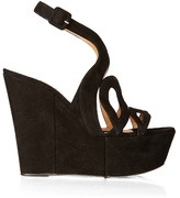 Alexa Wagner Ayers cut-out suede wedges
