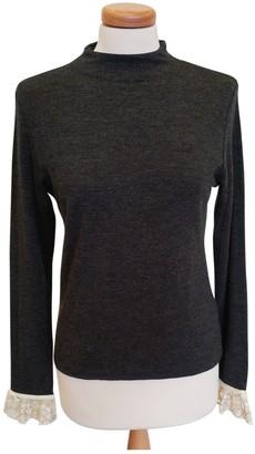 Blumarine Grey Wool Top for Women