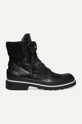 Bogner St. Moritz Shearling-trimmed Leather Ankle Boots - Black