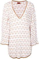 Missoni v-neck knit beach dress - women - Cotton/Rayon/Polyester - 42