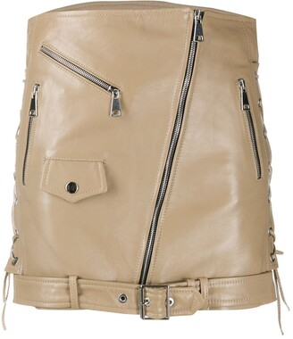 Manokhi Biker Mini Skirt