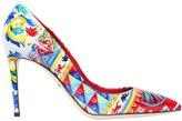 Dolce & Gabbana 85mm Kate Maiolica Faux Patent Pumps