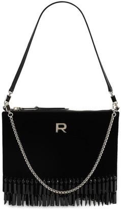 Rochas Embellished Velvet Shoulder Bag