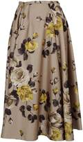 Rochas Pleated Detail Floral Skirt