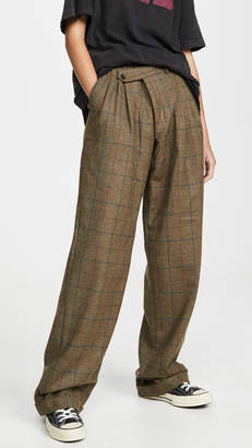 R 13 Triple Pleat Crossover Trousers