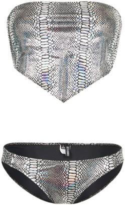 Beth Richards Handkerchief Snakeskin-Print Bikini