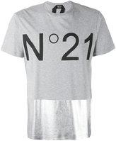 No.21 metallic panel logo T-shirt - men - Cotton - L