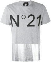No.21 metallic panel logo T-shirt