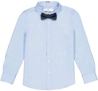 La Redoute Collections Plain Shirt with Removable Bow Tie, 3-12 Years