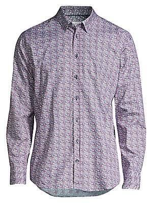 Bugatti Men's Floral Button-Down Shirt