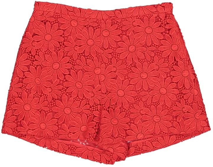 Giambattista Valli Red Cotton Shorts for Women