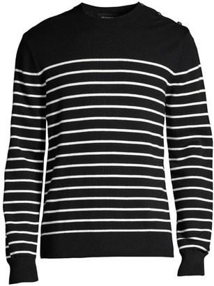 The Kooples Stripe Wool-Cotton Sweater