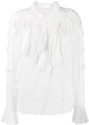 See by Chloe High Neck Ruffled Top