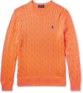 Polo Ralph Lauren - Cable-knit Cotton Sweater