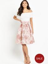 AX Paris Bardot 2-in-1 Midi Dress - Pink