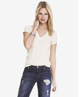 Express fitted deep v-neck tee