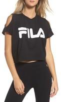 Fila Women's Nikki Cold Shoulder Crop Tee