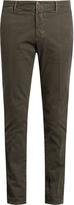Incotex Slim-leg micro-weave cotton-blend chino trousers