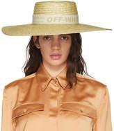 Off-White Beige Straw Hat