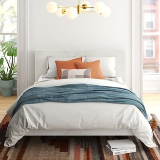 Seda Upholstered Platform Bed AllModern Size: California King, Color: Ocean