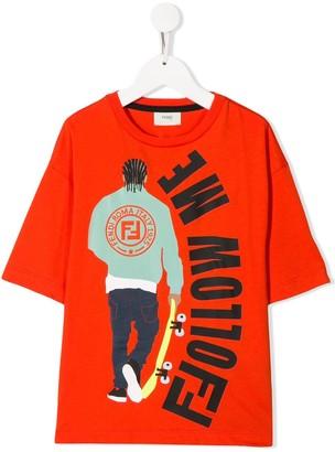 Fendi Kids graphic print T-shirt