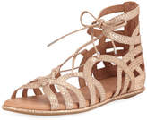 Gentle Souls Break My Heart Flat Gladiator Sandal, Gold