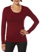 Rafaella Scoop-Neck Cotton-Blend Long-Sleeve T-Shirt