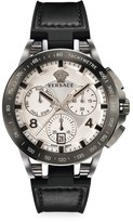 Versace Tech Stainless Steel Leather & Rubber Strap Watch