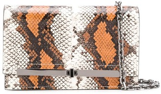 Casadei Snakeskin-Effect Clutch Bag