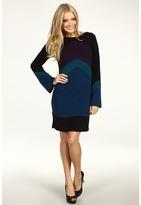 Hale Bob Neapolitan Colorblock Dress (Teal) - Apparel