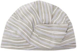 Flapper Elisabeth Striped-cotton Turban Hat - Womens - Green Stripe