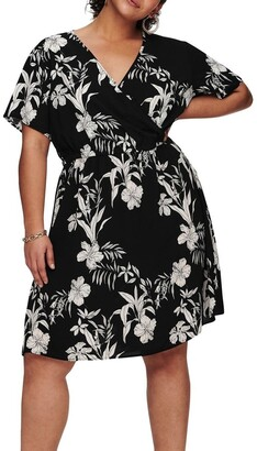 Only Luxina Short Sleeve Wrap Dress
